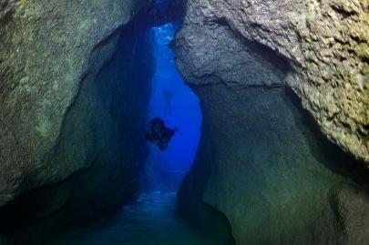 AD0162cuevas bajo el agua en es Vedranell JoanCosta