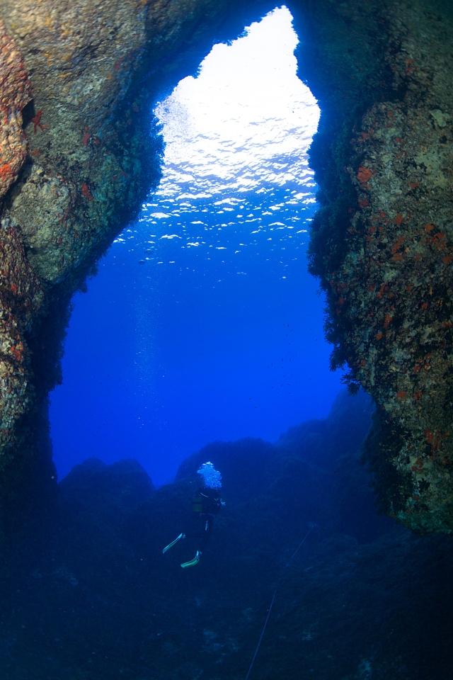 13/Septiembre/2016 Islas Baleares. Ibiza Cueva de s'Àngel.  ©JOAN COSTA